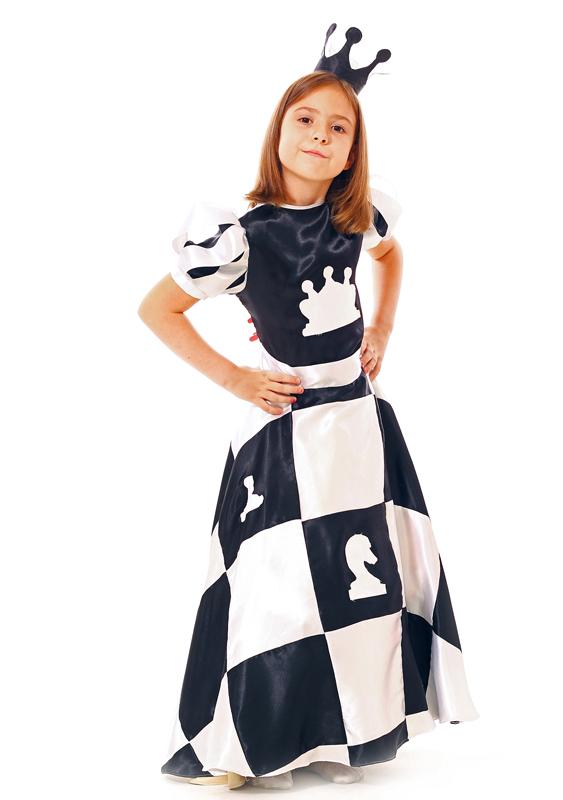 Костюм шахматной королевы для девочки своими руками фото
